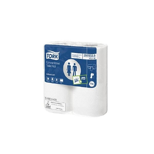 Tork Conventional Toilet Paper, 472150, 320 Sheets, 36 Rolls