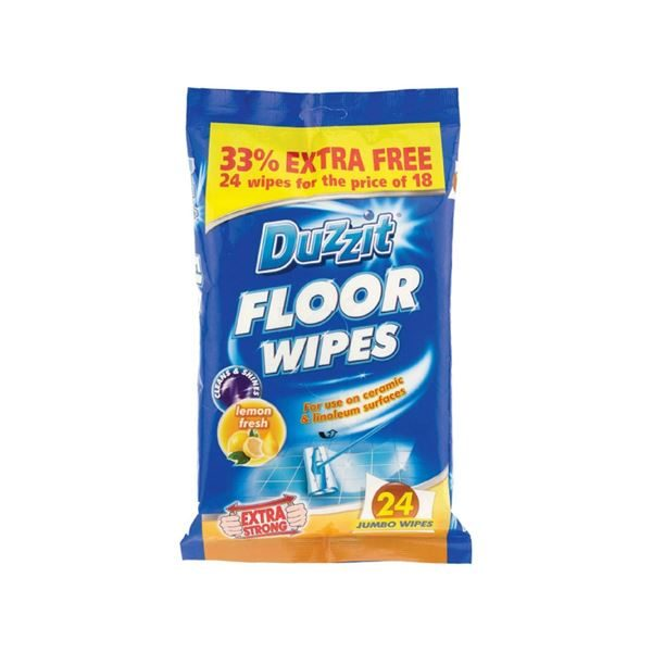 Duzzit Floor Wipes, Pack of 24