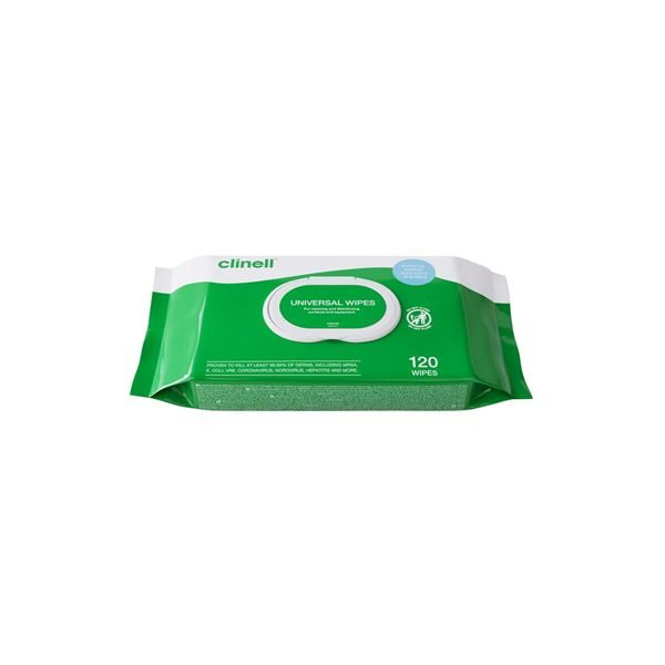 Clinell Universal Sanitising Wipes, Pack of 120