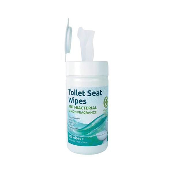 Toilet Seat Disinfectant Wipes, Tub of 100