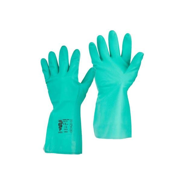 Warrior Green Nitrile Gauntlets, Pack of 12 Pairs (M/8)