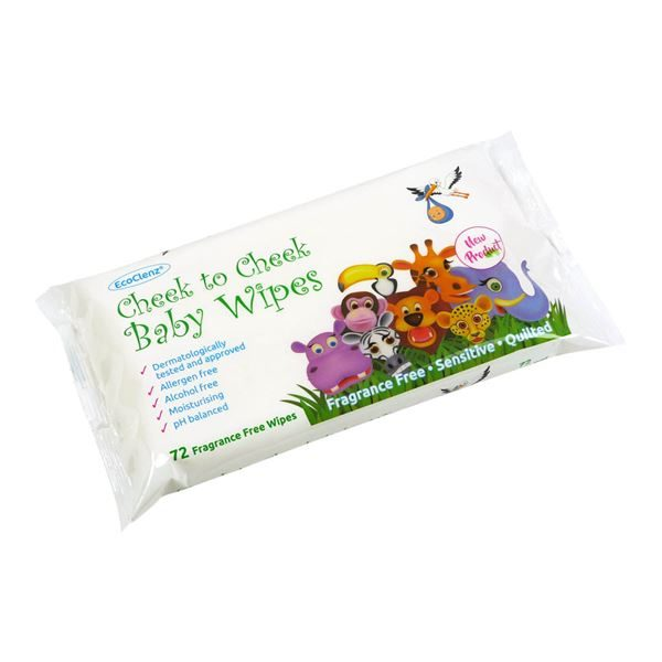Cheek to Cheek Baby Wipes, Fragrance Free, Pack of 72