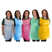 """Aprons on a Roll, Standard, 27 x 40"""", Case of 5 x 200 - White, Blue, Red, Green or Yellow"""
