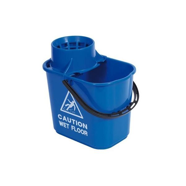 Professional 15 Litre Mop Bucket with Wringer - Various Colours