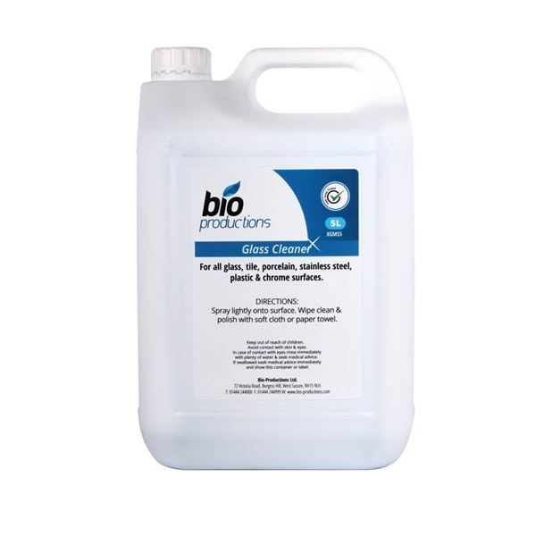 HK1205 Bio Productions Glass & Steel Cleaner 5L
