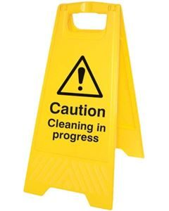 Caution-sign-cleaning-in-pr