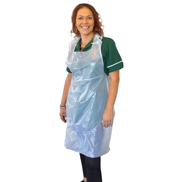 """Flat Pack Aprons, White, Standard, ~27 x 40"""", Case of 10x100"""