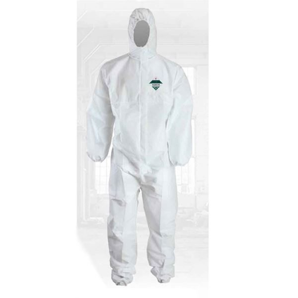 Warrior Series 200 Type 5 & 6 Coverall, White, Size L