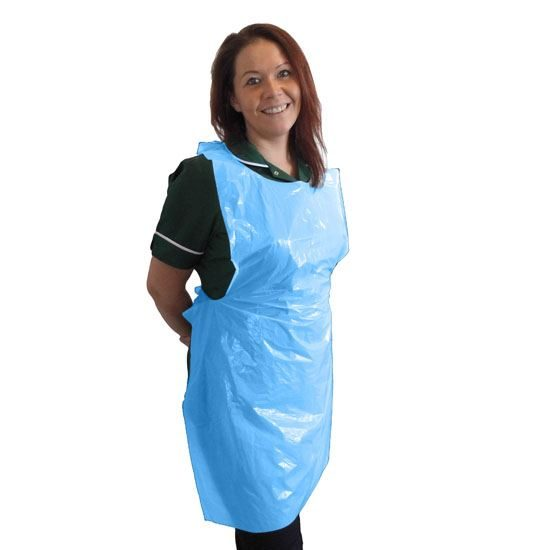 """Blue Aprons on a Roll, Standard, ~27 x 40"""", Case of 5 x 200"""