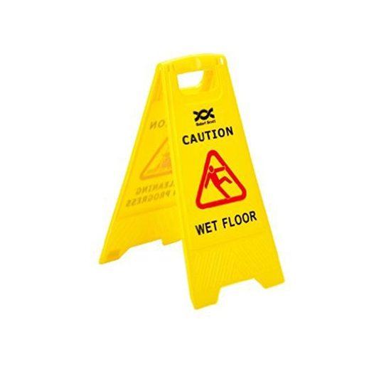 Caution Wet Floor/Cleaning in Progress sign