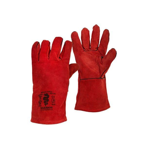Warrior Red Welders Gauntlets, Size 10, Pack of 6 Pairs
