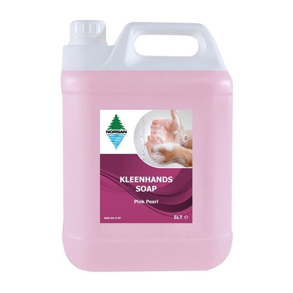Norsan Kleenhands Pink Pearl Hand Soap, 5L