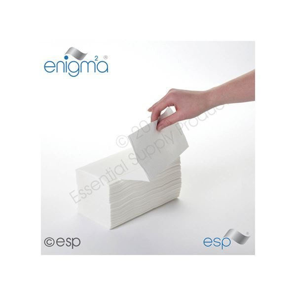Interfold Hand Towels, 1 Ply, HTWI500, White per 5000
