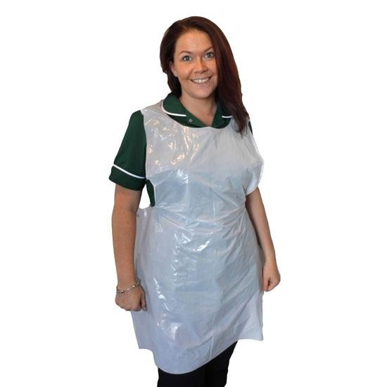 """Flat Pack Aprons, White Superior, 27 x 40"""", Case of 10 x 100"""