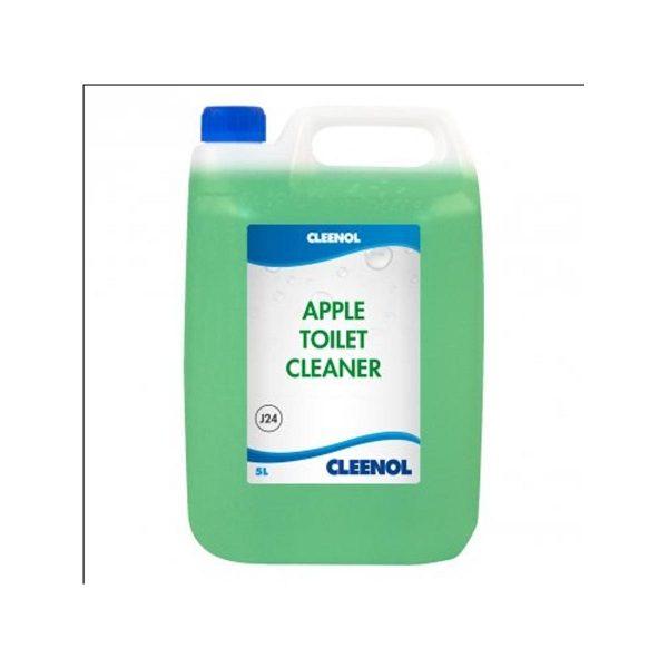 Cleenol Apple Toilet Cleaner, J24, 5L, per case of 2