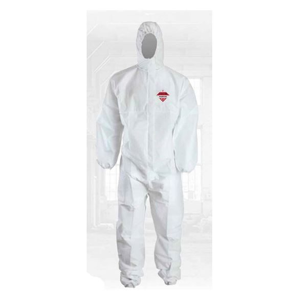 Warrior Series 100 Type 5 & 6 Coverall, White, Size L - XL