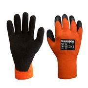 Warrior Thermal Latex Coated Grip Gloves, Size 8 - 10