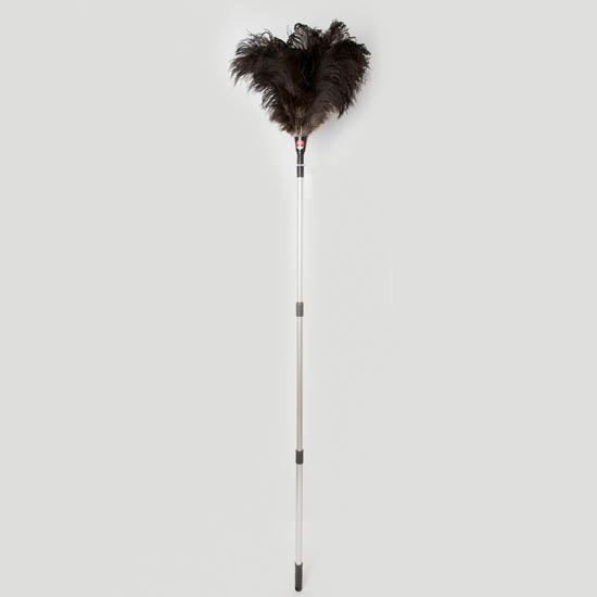 """Dustease Ostrich Feather Duster, Telescopic 48-90"""", Each"""