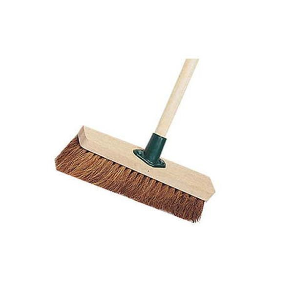 """Wooden Broom Soft Coco 11"""" Complete"""