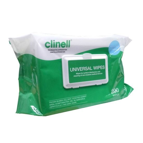 Clinell Universal Sanitising Wipes - Pack of 200