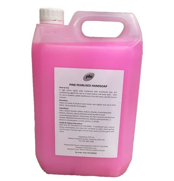 HND113 PHS Pink Pearlised Soap 5 Litre